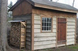 "The ""DaVinci""  Shed w/ the ""Modular"" Firewood Shed attached"