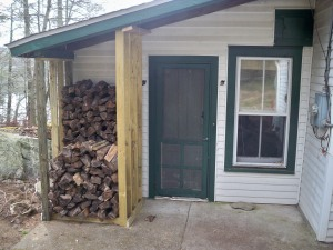 "The ""Snugger"" Firewood Shed"